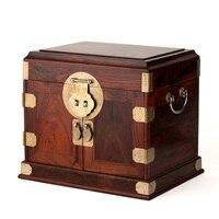 home decor Rosewood rosewood wooden jewelry box jewelry box wood wedding oversized plain chest mirror lock