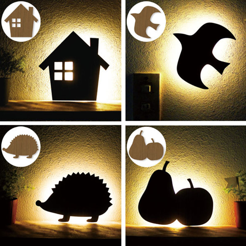 Modern Decoration Voice-activated Novelty Lamp Night Light Cartoon Table House Hedgehog Lamps For Valentine's Day Gift