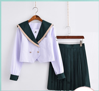 New Japan Long sleeve sailor suit costumes anime Japan academic school female student uniforms japanese school uniform