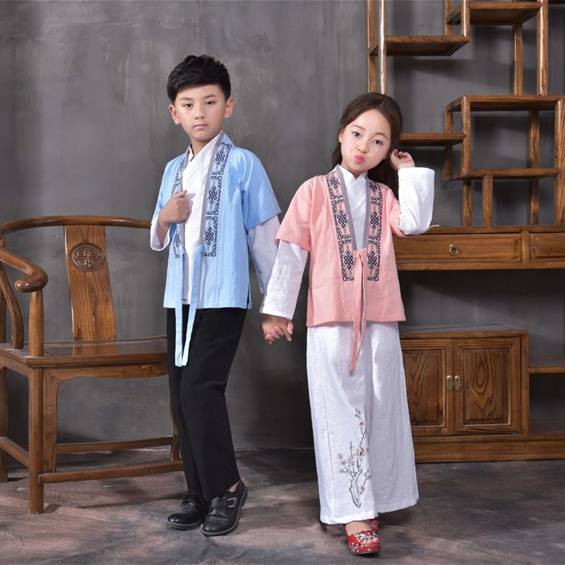 New Arrival Chinese Hanfu Costume for Girls Scholar Clothing Ancient Costume Retro National Style Tang Suit for Performance