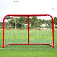 Hot! Sports Mini Hockey Goal Outdoor/Indoor Kids Sports Soccer & Ice Hockey Goals with Balls and Pump Practice Scrimmage Game