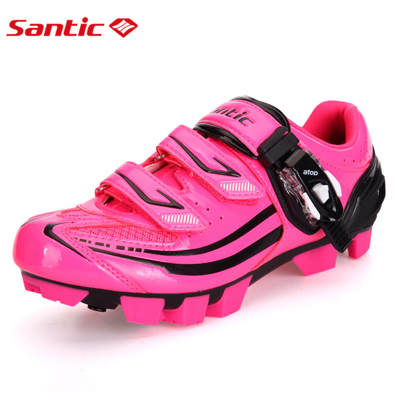 Santic MTB Cycling Shoes Pink zapatillas Shoes Bicycle Cleated Mountain Road Racing Women Cycling Shoes riding shoes