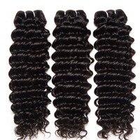 Jaycee Бразильские глубокие волнистые волосы 3 пучки 8-30 дюйм(ов) meche bresilienne Remy человеческие волосы расширение натуральный цвет