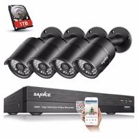 SANNCE HD 8CH 1080P CCTV System 4PCS 1080P 2 0MP Security Cameras IR Outdoor Waterproof CCTV