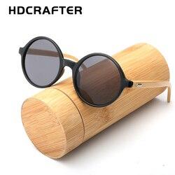 Round Wooden women Sunglasses men vintage bamboo ladies Sunglasses for female mirrored sung glasses eyewear fashion UV400