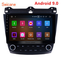 Seicane 10.1Android 9.0 Car Radio GPS Navigation For 2003 2004 2005 2007 Honda Accord 7 8 Core Support Steering Wheel Control