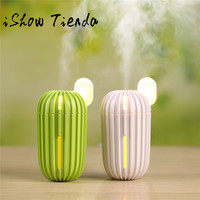 ISHOWTIENDA 200ml USB Cactus Home Aroma Humidifier Air Diffuser Purifier Atomizer Cactus Humidifier 0116