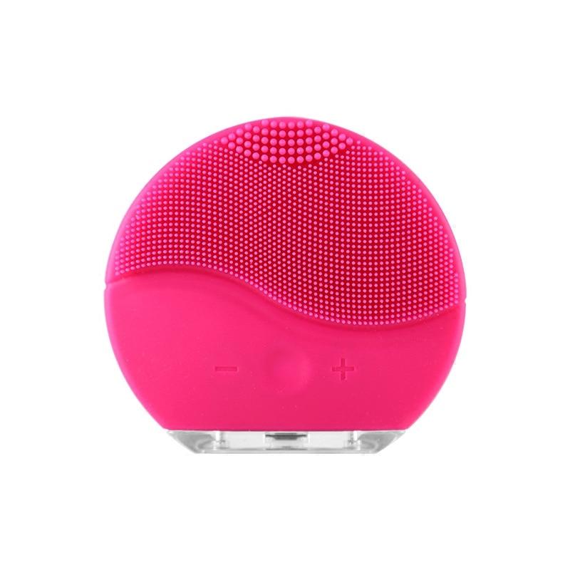 Elettrico Pulizia Del Viso Pennello In Silicone Sonico di Vibrazione Mini Pulitore Profondo Per La Pulizia Dei Pori Della Pelle Massaggio viso spazzola di pulizia