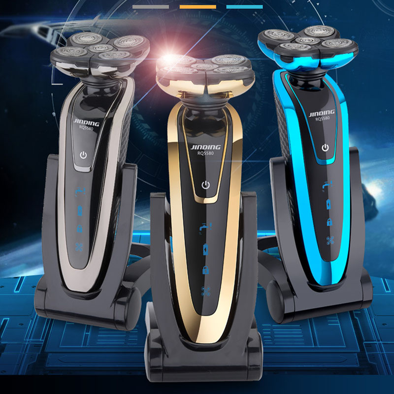 Kemei Shaver Men Bread Trimmer Rechargeable Electric Shaver Razor Floating Blades Razor Body Washing Hair Removal Epilator
