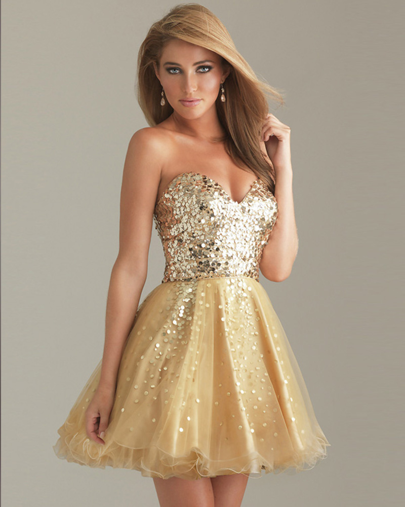 Compare Prices on Gold Sparkly Homecoming Dress- Online Shopping ...