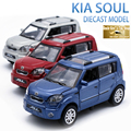 15CM Length Diecast Kia Soul Model Car, Kids/Childrens/Boys Metal Toys Gift With Openable Door/Pull Back Function/Music/Light