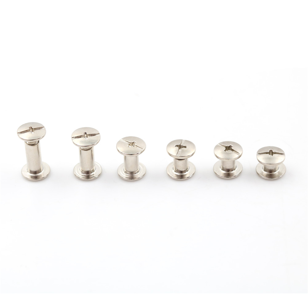 20PCS/lot Nickel Binding Screws Nail Rivets For Bag Parts Accessories 5x6mm Wholesale 6Sizes