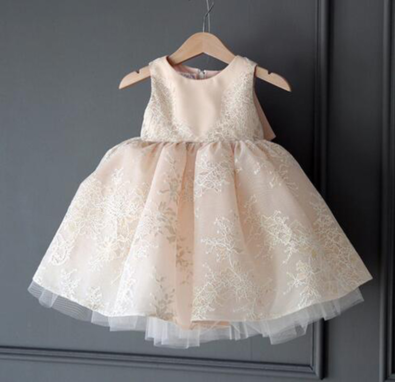 SAMGAMI BABY High Quality Lovely Pink Lace Girls Dress Princess Children Party Wear Veil Big Bow Flower Girl Kids Wedding Summer new fashion embroidery flower big girls princess dress summer kids dresses for wedding and party baby girl lace dress cute bow