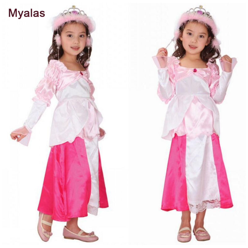 Girl Princess dress Flower Dress Cosplay Costume Halloween Costume for Kids Cosplay Costume Christmas Carnaval Costume For Girl
