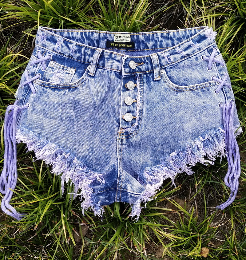 New Highwaisted Mini Jeans Shorts Women Both Side Tie Mini Short Sexy Denim Shorts Jeans Skinny Jeans Woman  Ropa Casual Mujer 1
