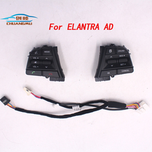 CHUANGMU For Hyundai Elantra AD l Car Bluetooth Phone Cruise Control Steering Wheel Buttons Pad Switch Black chuangmu for hyundai sonata lf the steering wheel shift paddles movement module shell decoration96770