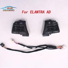CHUANGMU For Hyundai Elantra AD l Car Bluetooth Phone Cruise Control Steering Wheel Buttons Pad Switch Black цена