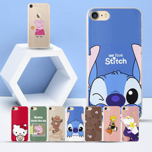 hot deal buy pink pig case for iphone 7 case 5 5s 6 6s 8 plus x bear kitty cat case for funda iphone 7 8 lovey pig case for coque iphone 6 se
