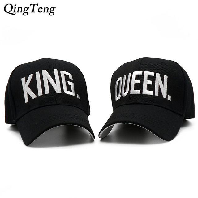 17216cf56fe3 KING QUEEN Mens Hats And Caps Embroidery Letters Hat For Women Casual Couple  Gifts Gorras Snapback Brand Black Baseball Cap