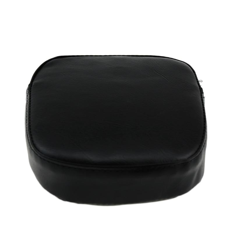 Cherk Black Motorcycle Universal Backrest Sissy Bar Cushion Pad For Harley Kawasaki Honda Suzuki Yamaka BMW KTM