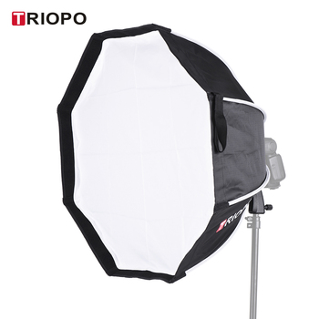 New TRIOPO 65cm Foldable 8-Pole Octagon Softbox with Soft Cloth Handle for Godox Yongnuo Andoer On-camera Flash Light