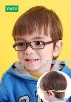 Bebê óculos e de tamanho 41/15, Óculos de criança com elástico, Flexível de uma peça quadro com banda de cabeça