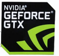 Free Shipping 100% New Original For NVIDIA GeForce GTX Sticker Size:18x18mm For Desktop Laptop Stickers