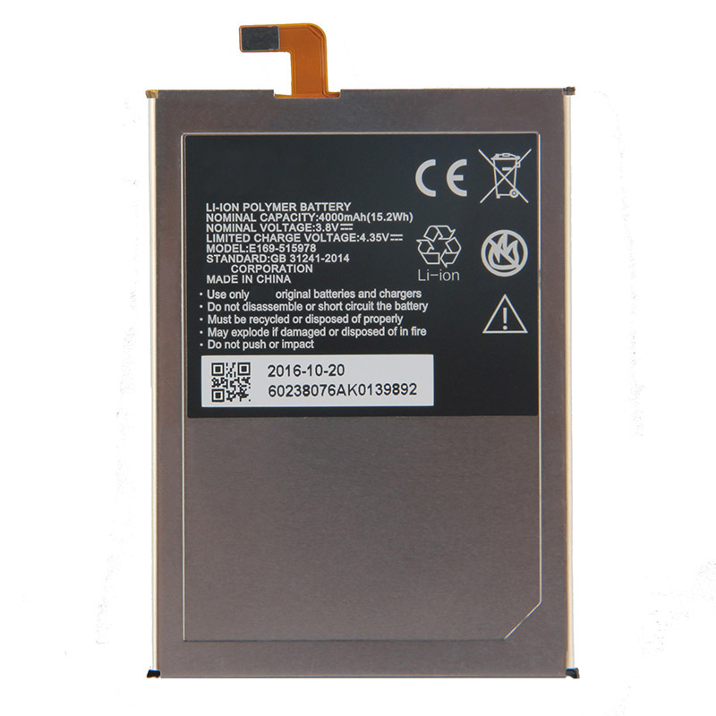Original 515978 phone battery For ZTE Blade X3 Q519T D2 A452 E169 515978 E169 515978 4000mAh in Mobile Phone Batteries from Cellphones Telecommunications