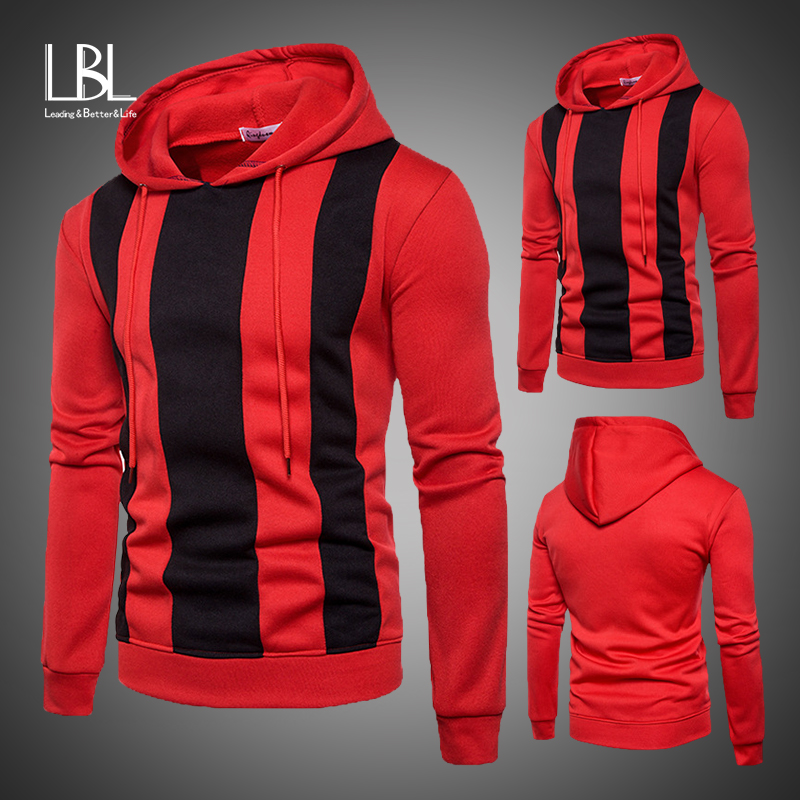 New Mens Patchwork Casual Autumn Hoodie Sports Coats Tops Sweatshirt Outwear
