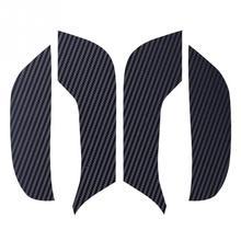 테슬라 모델 3 도어 안티 킥 매트 가죽 탄소 섬유 수호자 (4 개/대/세트) v2.0 자동차 탄소 섬유 패드 자동차 도어