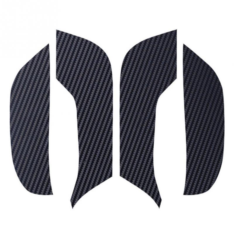 Tesla Model 3 Door Anti-Kick Mat Leather Carbon Fiber Protector(4 PCS/Set) V2.0  Car Carbon Fiber Pad Automobiles Door