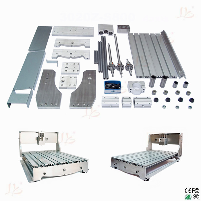 mini lathe bed frame cnc router machine diy 6040 aluminum alloy ball screw no tax