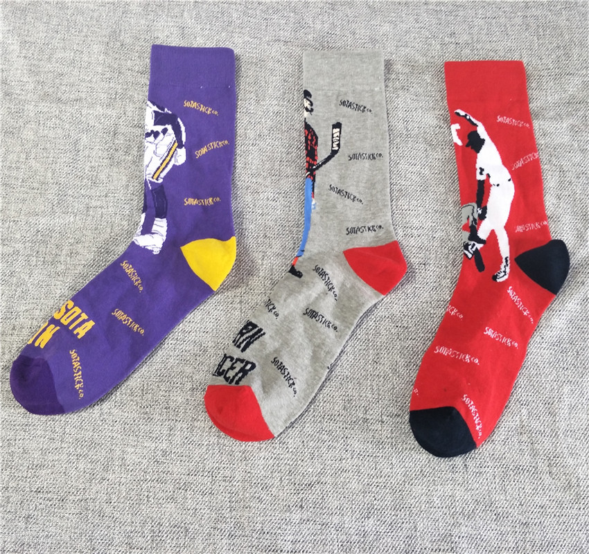 Cotton Mens Socks Funny Cool Funny Long Cool Skaters Mens Costume Design Chaussettes Calcetines Nail dress