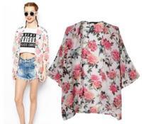 New Arrive Women Blouses Europe America Style 2014 Summer Fashion Personality Print Kimono Sun Protection Clothing