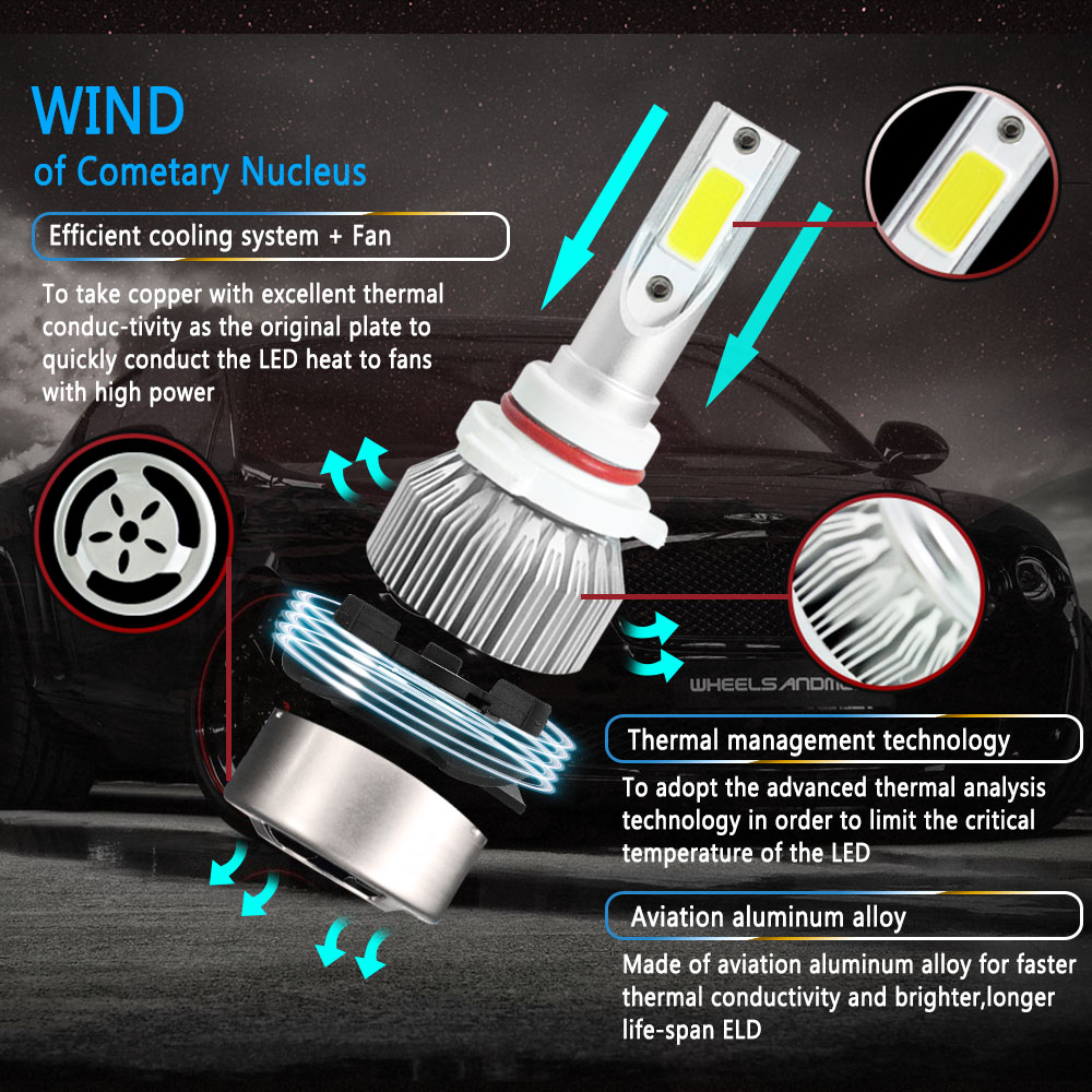 Image 4 - CROSSFOX Auto Bulbs LED H7 H4 H11 H1 H3 H13 880 9004 9005 9006 9007 9003 HB1 HB2 HB3 HB4 H27 LED Car Headlights-in Car Headlight Bulbs(LED) from Automobiles & Motorcycles