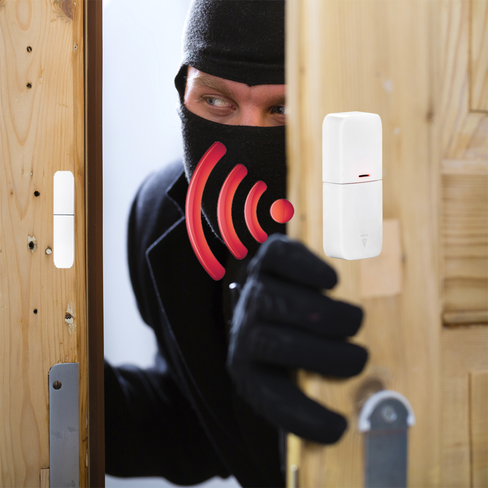 DAYTECH Drahtlose Tür Windows Sensor Detektor Alarm Alarm Sensor Wireless Home Security Alarm System Kits Einzelhandel Store/Büro