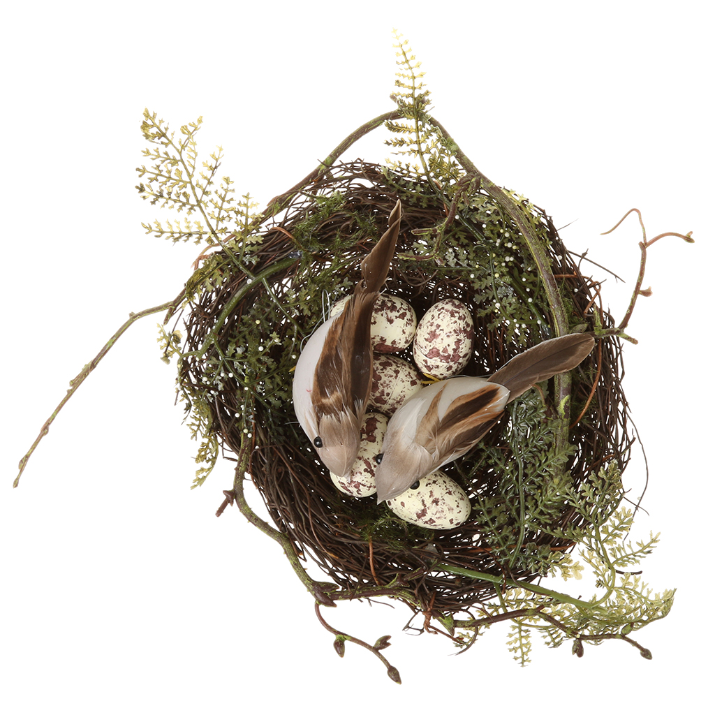 New hot sale bird nest simulation faux moss plastic home for The nest home decor