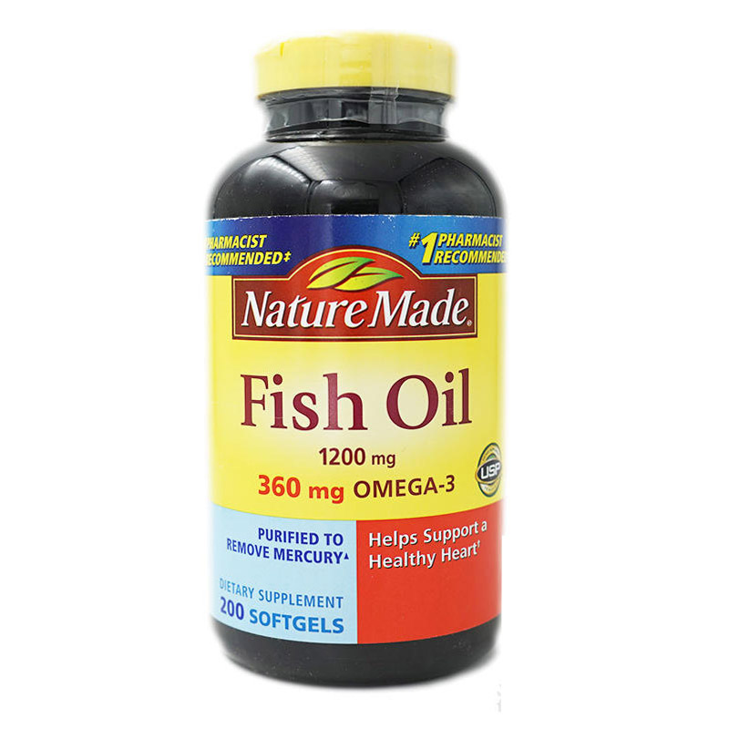 Fish Oil 1200 mg 360 mg Omega 3 200 pcs Free shipping omega 3 fish oil for dogs and cats liquid 8oz human grade quality nhv petomega 3