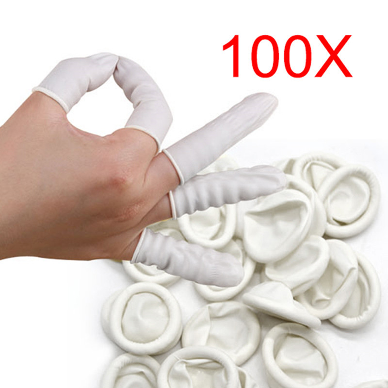 100pcs/Lot Finger Cots Nail Art Latex Fingertips Protective Small Rubber Gloves Practical Disposable Anti Static