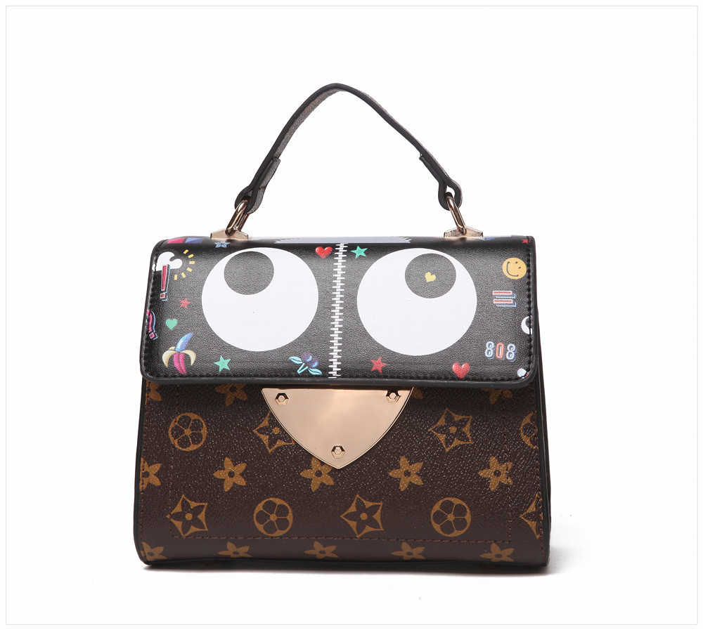 The new spring/summer 2017 women handbags handbags in Europe and America little monsters one shoulder inclined shoulder bag colo the little old lady in saint tropez