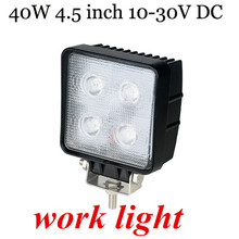 off road 4X4 Truck Tractor boat SUV ATV  2x40W 4.5 inch LED light lamp square SPOT BEAM  LED work light free shipping