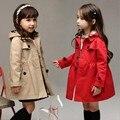 Осень пальто дети Долго верхней одежды малыш куртки Плед вскользь куртка ветровка 9 10 11 12 14 лет дети одежда для продажи