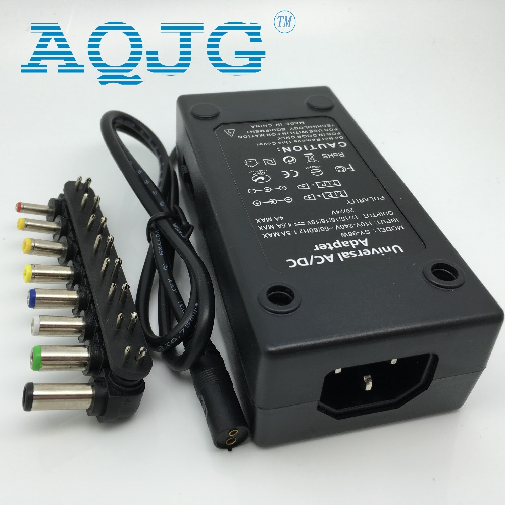 96W Universal Laptop PC Netbook Power Supply Charger 110-220v <font><b>AC</b></font> To DC 12V/15V/16V/<font><b>18V</b></font>/19V/20V/24V Laptop Charger <font><b>Adapter</b></font> image