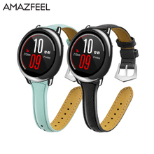 Genuine leather Watchband strap for Samsung S3 Amazfit stratos pace Xiaomi huami Amazfit watch Wristband Samsung gears3 Bracelet