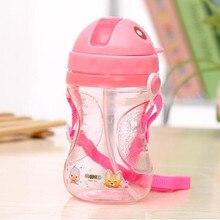 400ml Plastic Infant Straw Drinking Bottle
