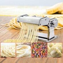 Free By DHL2PC Household Mini Pasta Machine Manual Metal Spaetzle Makers Pressing Machine Pole Head Mingled Split Noodle Tools