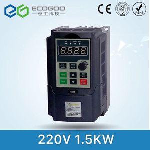 Image 1 - 1.5KW / 0.75KW 220V Single phase inverter input VFD 3 Phase Output Frequency Converter Adjustable Speed 1500W 220V Inverter