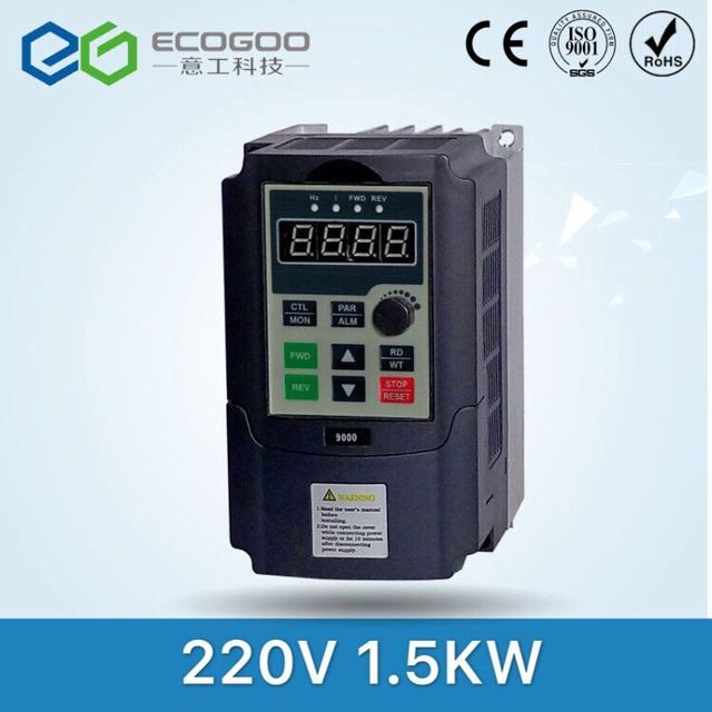 1.5KW / 0.75KW 220V Single phase inverter input VFD 3 Phase Output Frequency Converter Adjustable Speed 1500W 220V Inverter