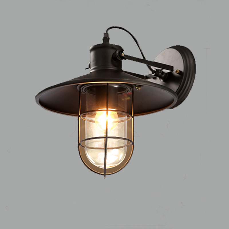 Birdcage wall lamp American country style living room bedroom den wall lamp industry цена 2016