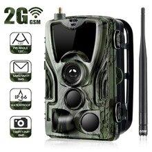 HC801M 2G MMS/e mail/SMS kamera obserwacyjna 16MP 1080P podczerwień widzenie nocne led Wildlife zdjęcie z kamery pułapka nadzór kamera myśliwska